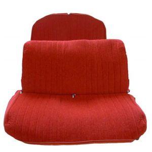 2CV AZAM bekledingset voor + achterbank rood