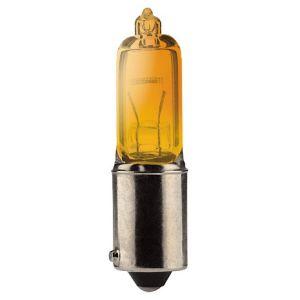 6W Lampje Halogeen (Bax9S 12V) (Prijs Per Stuk) Xenon. Oranje.