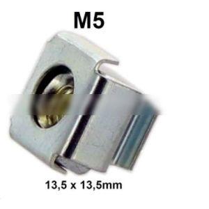 2CV / Ds Box Nut M5 (Casing Nut). External Dimension: 13.5 X 13,5Mm