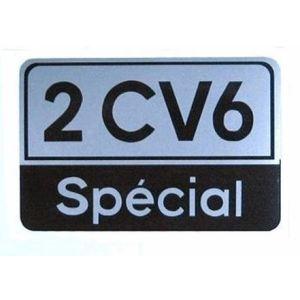 2CV6 special embleem (silver-zwart)