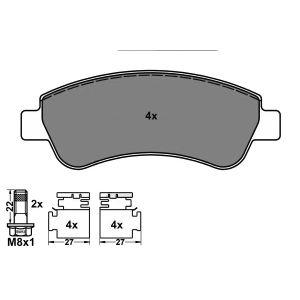 PSA 1/02- (1.1i/1.4i/1.4i-16V/1.6i-16V/1.8i-16V/1.6HDi/1.9D/2.0HDi) remblokset voorzijde