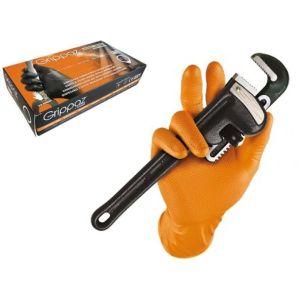 Handschoen Grippaz maat XL (Oranje) doos 50 stuks