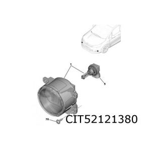 308 / C4 / DS4 / Berlingo mistlamp E L/R