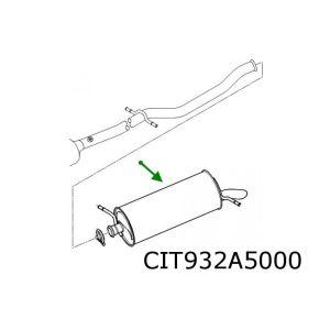 C5 -8/02 (1.8I-16V/2.0I-16V/2.0Hpi) Achterdemper Flens