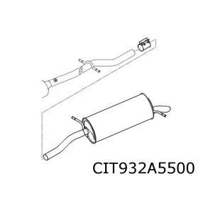 C5 9/02- (1.8I-16V/2.0I-16V) Achterdemper Schuif