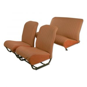 2CV bekledingset symm. 2x stoel 1x bank bruin skai aere gesloten zijkant