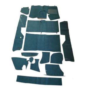 DS pallas tapijtset 14-delig, donker groen. (zonder schuimmateriaal en viltmatten)