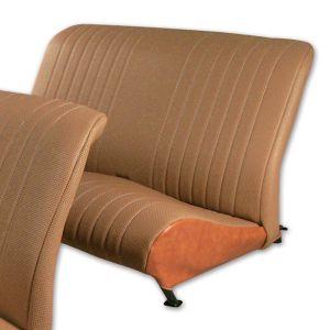 2CV bekleding achterbank bruin aere marron gesloten zijkant