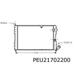 605 / XM 9/90-6/95 (2.0T)(+automaat)(2.1TD) radiateur (voor Ordonez)