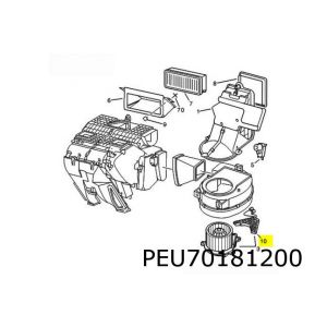 806 / Expert / Evasion / Jumpy / Scudo / Ulysse / Zeta (-Ac) Regeleenheid Kachelmotor (3-Polig)