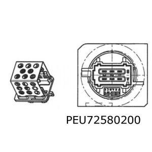 206 (-Ac) Weerstand Kachelventilator