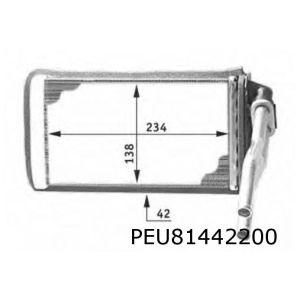 205 / 309 Kachelradiateur (Systeem Behr)