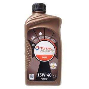 15W40 1L Quartz 5000 Motorolie Total