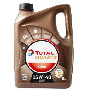 15W40 5L Quartz 5000 Motorolie Total