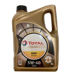 5W40 5L Quartz 9000 Motorolie Total