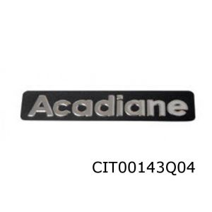 Acadiane Achterklep Logo