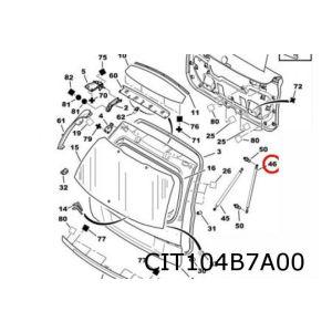 C4 Grand Picasso gasveer achterklep L/R (bij apart te openen achterruit)