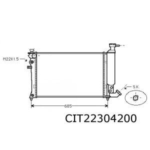 Zx -9/93 (1.8D/1.9D/Td/2.0I) Radiateur