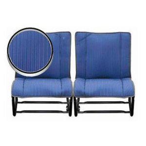 2CV Bekleding Achterstoelen Bayadère Blue [Set Voor 2 Stoelen]