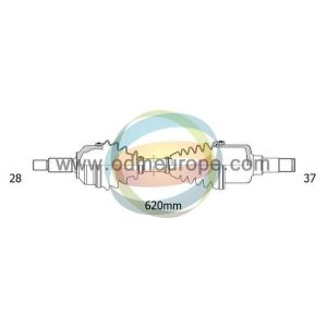 C5 III / C6  / 407 (2.7Hdi / 3.0Hdi / 3.0V6) Aandrijfas Links