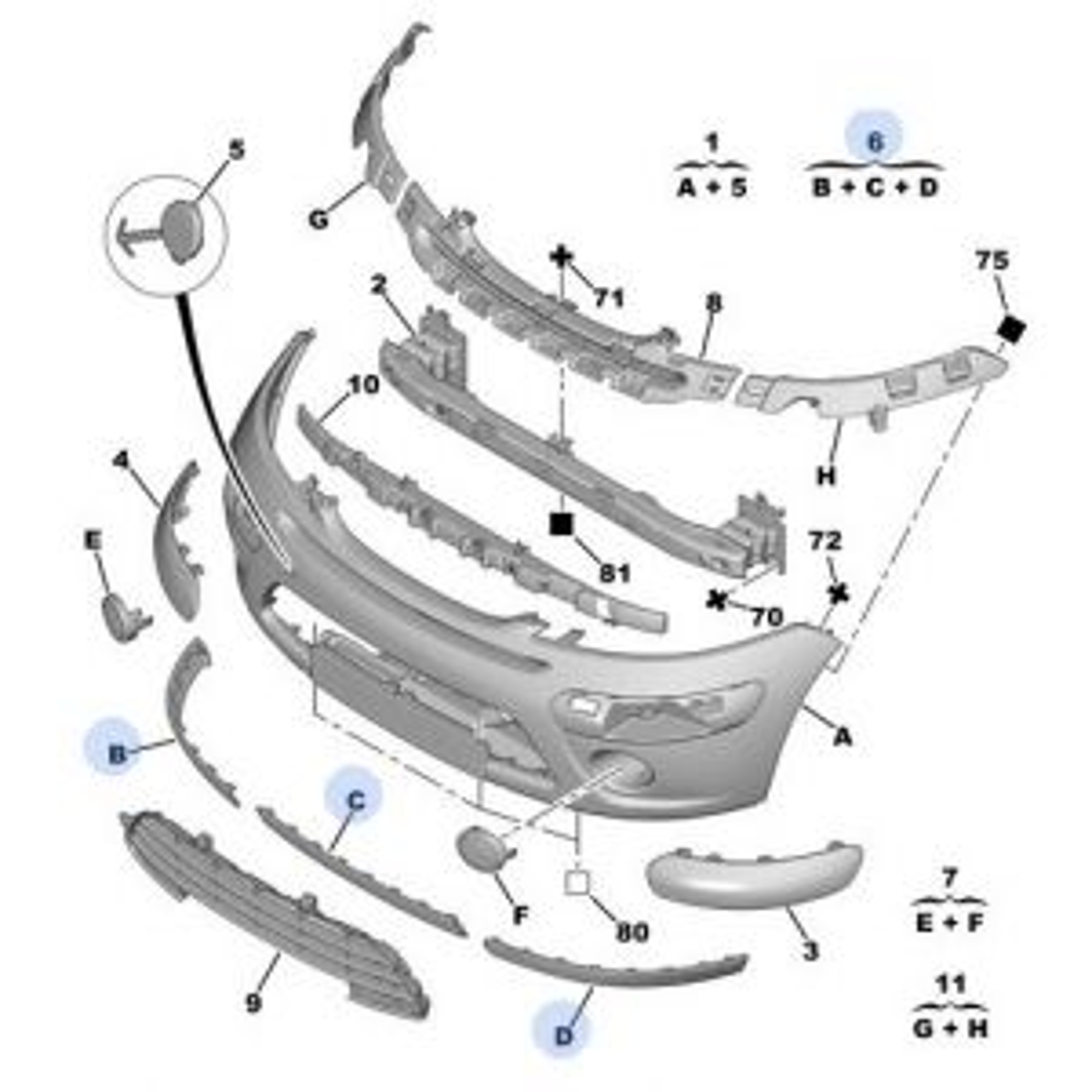 C3 9/05- voorbumper spoiler onderzijde