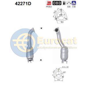 A6 (2.7TDi / 3.0TDi Quattro) 10/08- katalysator (Handbak)
