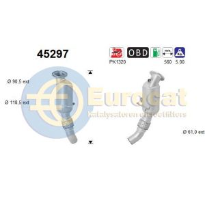 116i / 118i / 218i / 318i / 418i (1.5i) 03/15- katalysator