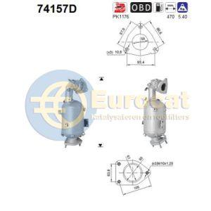 Murano II (2.5DCi) 05/10-  katalysator (auto met roetfilter)