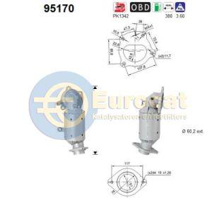 Auris / C-HR (1.2i) 05/15- katalysator voorzijde