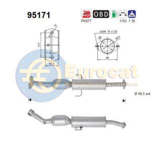 Auris (1.2i) 05/15- katalysator voorzijde