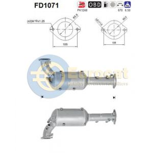 Navara / Pathfinder lll (2.5DCi) 03/05- roetfilter cordieriet