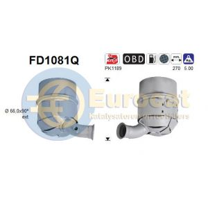 Jumpy / Scudo / Expert / Proace (1.6D / 1.6HDi) 01/07- roetfilter silicum