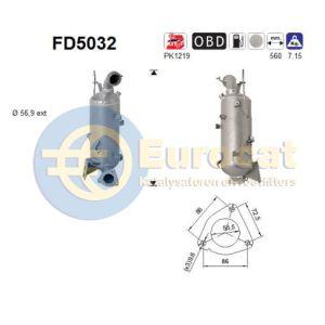 Malibu / Astra J / Insignia A / Zafira / 9-5 (2.0CDTi) 01/10- roetfilter cordieriet