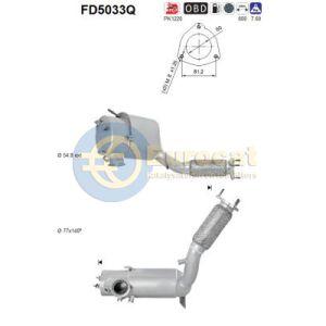 Alhambra / Sharan (2.0TDi) 05/10- roetfilter silicon