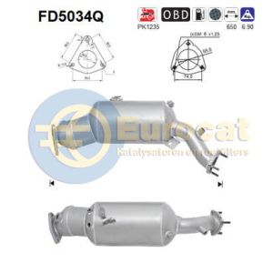 A4 / A5 / A6 / Q5 (2.0TDi) 01/08- roetfilter silicon
