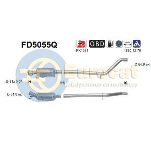 A180 / A200 / A220 / B180 / B200 /B220 (1.8D / 2.0D) 09/12- roetfilter silicon