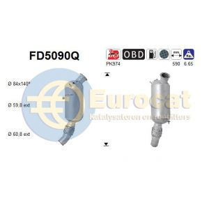 F20/F21/F22/F87/F30/F80/F34/F31/F33/F83/F10/F11 (1.6D / 2.0D)  07/13- roetfilter silicon