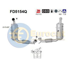 Fiesta VI (1.4TDCi) 07/10- roetfilter silicon