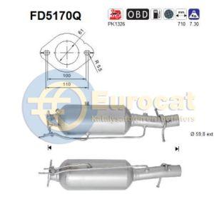Transit (2.2TDCi) 09/11- roetfilter silicon