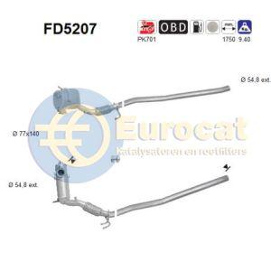 Passat (2.0TDi) 4 motion 08/09- Roetfilter Cordieriet